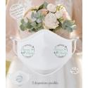 Masque personnalisé mariage réutilisable (catégorie 1) - Flèches / de la Mer