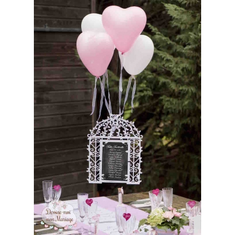 plan de table mariage personnalis cage oiseau. Black Bedroom Furniture Sets. Home Design Ideas