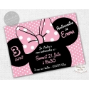carte d'invitation Anniversaire - Minnie Rose