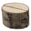 Support rondin de bois pour marque place