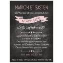 VERSO - Faire part de Mariage - Calendrier Ardoise