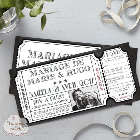 Faire part de Mariage Cinéma