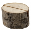 Support rondin de bois pour marque table