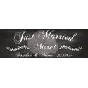 """Pancarte Mariage """"Just Married"""" ARDOISE personnalisé"""