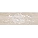 """Pancarte Mariage """"Just Married"""" BOIS NATUREL personnalisé"""