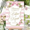 """Tableau de Bienvenue Mariage """"Flower"""" personnalisé"""