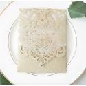 Faire part de Mariage ciselé - Pochette papier brillant