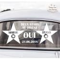 """Stickers de voiture mariage personnalisé - """"Cinéma"""""""