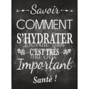 """Tableau Cocktail Mariage """"Savoir d'hydrater c'est important"""" - Français"""