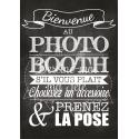 Tableau Photobooth Ardoise 1 - version française