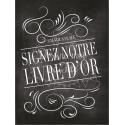 Tableau Guestbook / Livre d'Or (français) - Ardoise 1