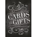 Tableau Cards & Gifts (anglais) - Ardoise 1