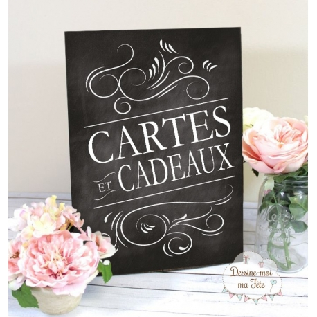 Tableau Cards & Gifts - Ardoise 1