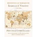 "Tableau de Bienvenue Mariage ""Voyage vintage"" personnalisé"