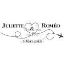 """Stickers de voiture mariage personnalisé - """"Voyage avion"""""""