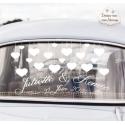 """""""Coeurs"""" - Stickers de voiture personnalisé"""
