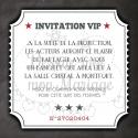 Carte invitation repas en supplément - Cinéma
