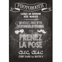 Tableau Photobooth Ardoise 2 - blanc