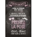 Tableau Photobooth Ardoise 2 - rose