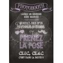 Tableau Photobooth Ardoise 2 - violet