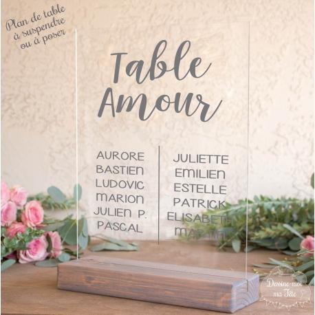 """Plan de table sur Plexiglas """"Minimaliste"""" personnalisé"""