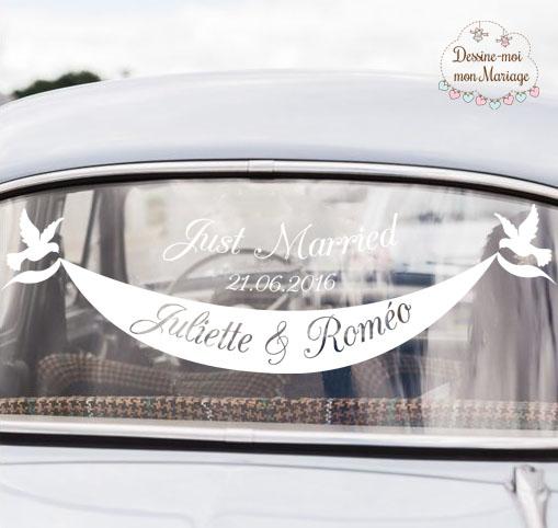 Stickers de voiture pour Mariage personnalisée